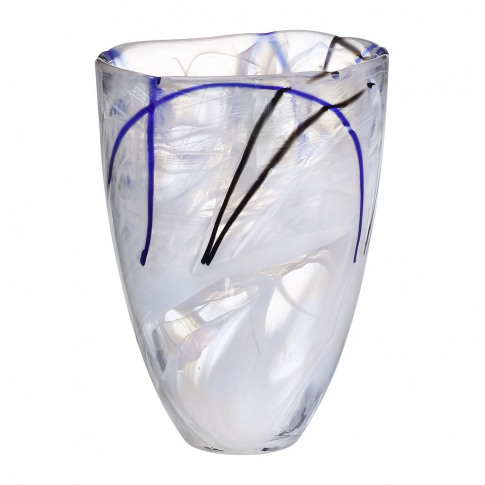 Orrefors Kosta Boda - Contrast Vase - White