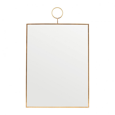 House Doctor - Rectangle Loop Mirror - Brass - 40cm