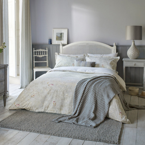 Sanderson - Chiswick Grove Duvet Cover - Silver - King