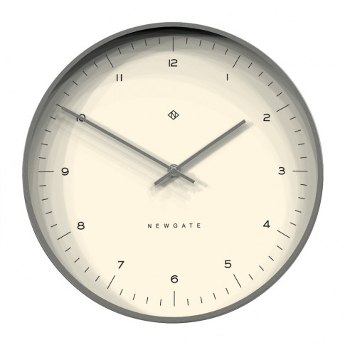 Newgate Clocks - Oslo Wall Clock - Silver Luxe