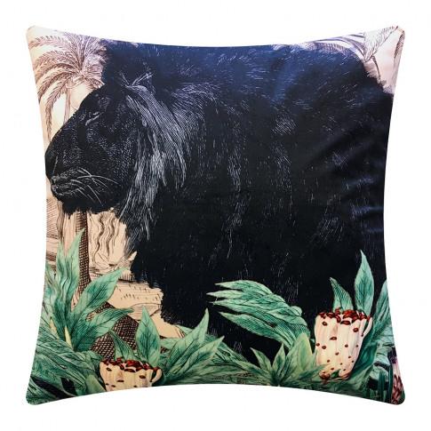 Vanilla Fly - Little Lion Velvet Cushion - 50x50cm