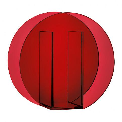 &Klevering - Circle Vase - Dark Red