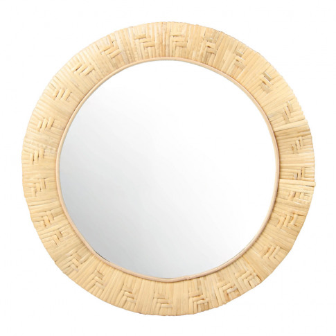 &Klevering - Round Bamboo Mirror