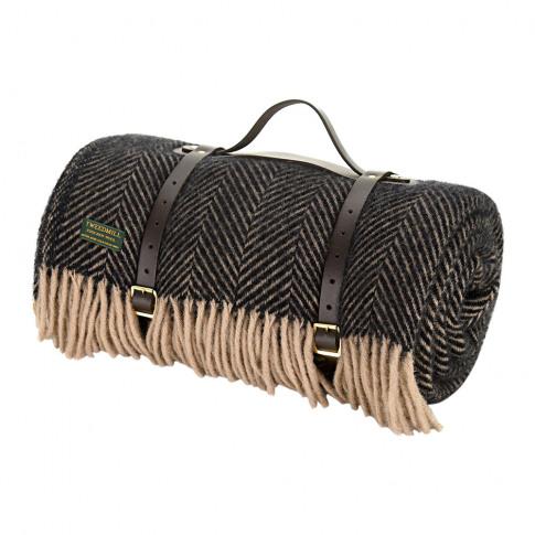 Tweedmill - Pure New Wool Polo Picnic Rug - Herringb...