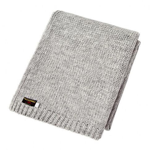 Tweedmill - Knitted Alpaca Throw - Grey