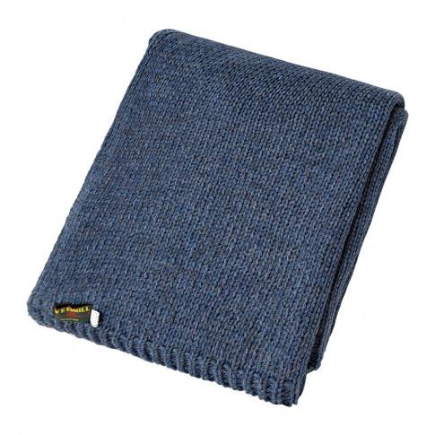 Tweedmill - Knitted Alpaca Throw - Blue Slate