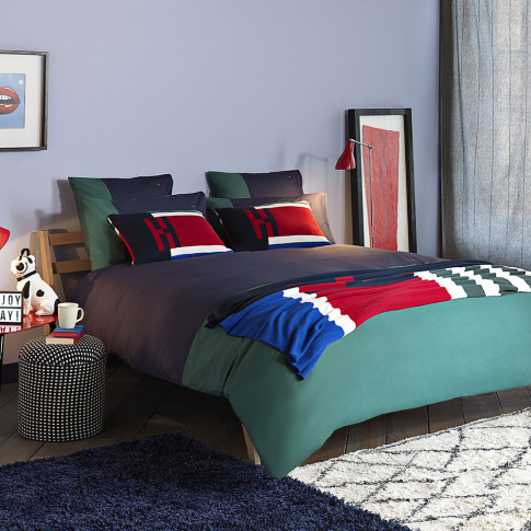 Tommy Hilfiger - Colour Block Duvet Cover - Evergree...