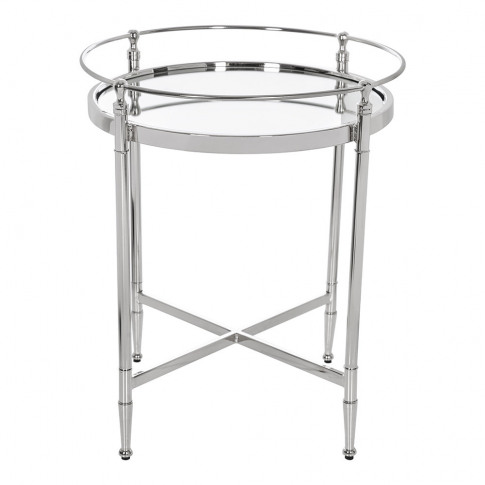 A By Amara - Round Mirror Side Table
