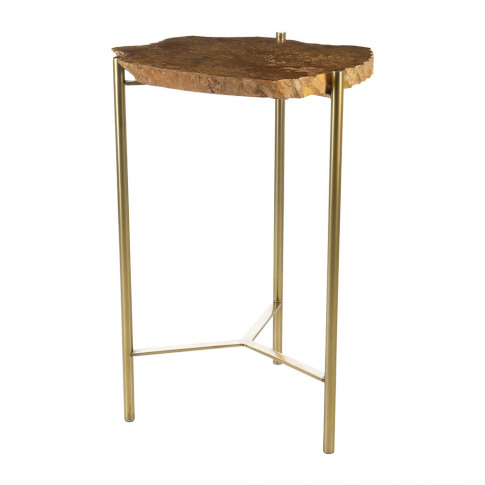 A By Amara - Petrified Wood Side Table