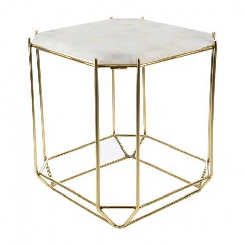 A By Amara - White Quartz Side Table