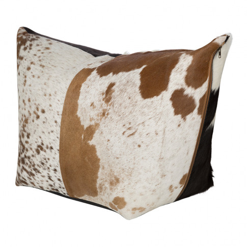 A By Amara - Mixed Cowhide Pouf - Multi