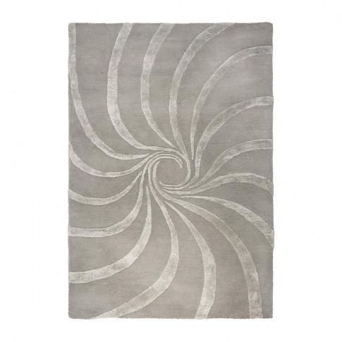 A by Amara - Spiral Hand Tufted Rug - Grey - 170x240cm
