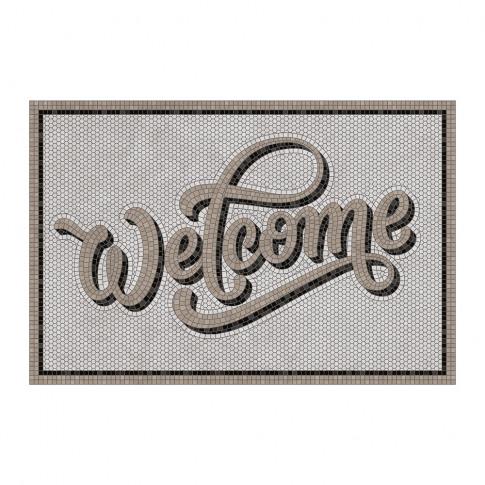 Beaumont - 5th Avenue Welcome Vinyl Door Mat - Grey