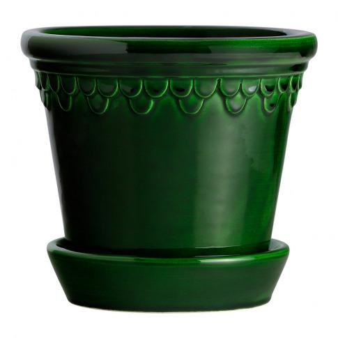 Bergs Potter - Copenhagen Glazed Plant Pot And Sauce...