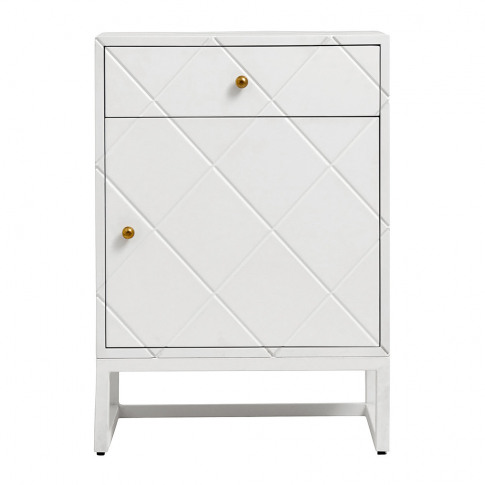Nordal - Buffet Squares One Door Cabinet - White