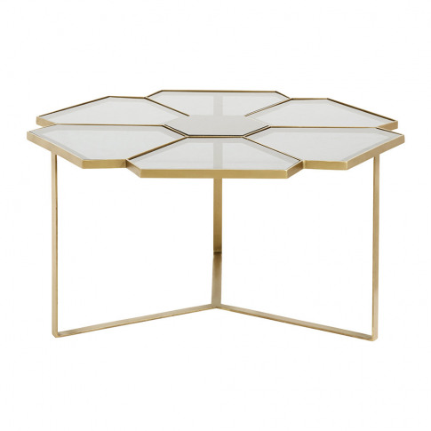 Nordal - Flower Coffee Table - Gold/Black - Large