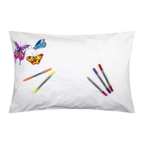 Eat Sleep Doodle - Butterfly Pillowcase - 75x50cm
