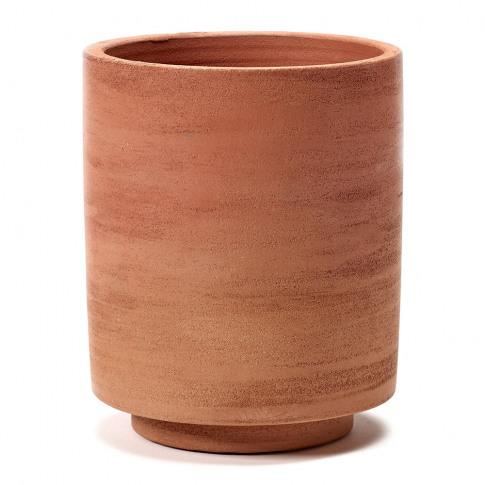 Serax - Cylinder Plant Pot - Red - Small