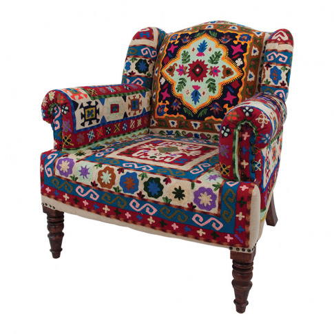 Ian Snow - Maharaja Crewel Embroidered Armchair