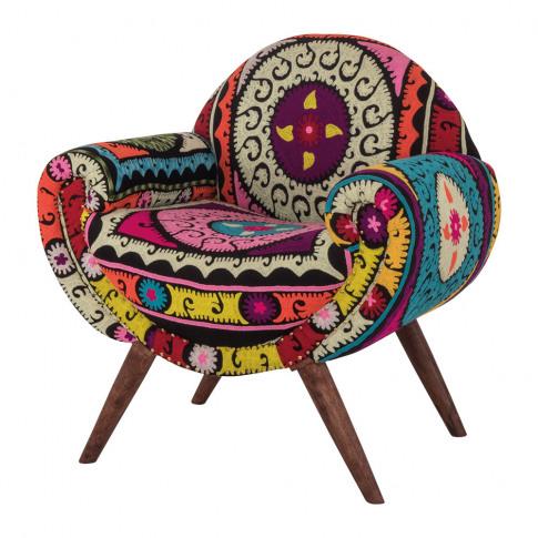 Ian Snow - Neon Aztec Embroidered Armchair