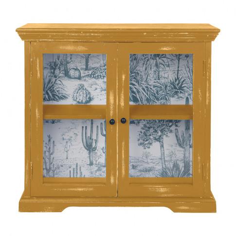 Ian Snow - Glazed Wall Cabinet - Sandy Yellow