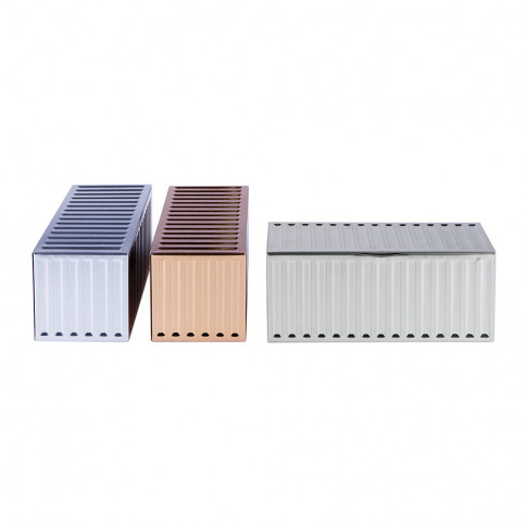 Doiy - Metal Container Storage Box - Set Of 3