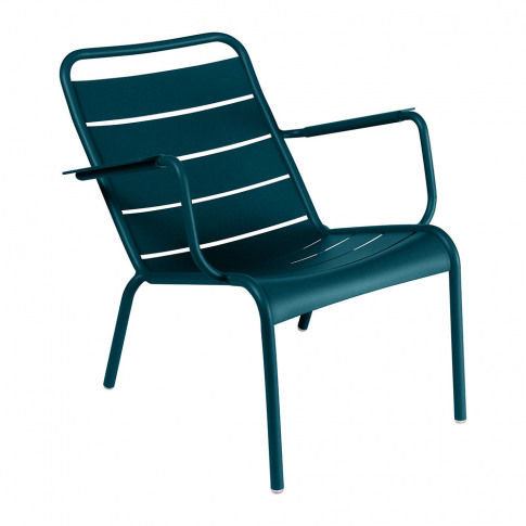Fermob - Luxembourg Low Armchair - Acapulco Blue