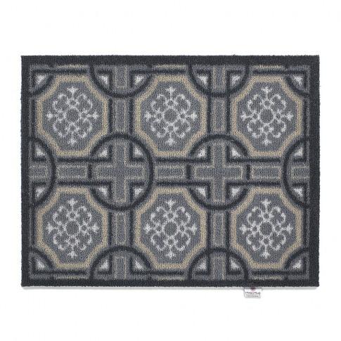 Hug Rug - Tiles Washable Recycled Door Mat - Charcoal - 65x85cm