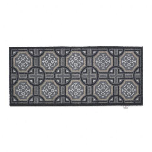 Hug Rug - Tiles Washable Recycled Door Mat - Charcoa...