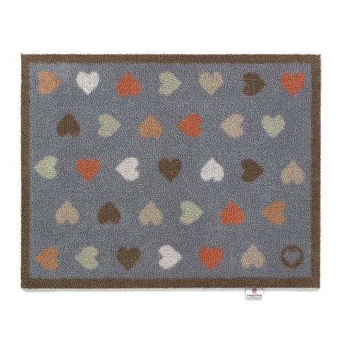 Hug Rug - Hearts Washable Recycled Door Mat - Navy -...