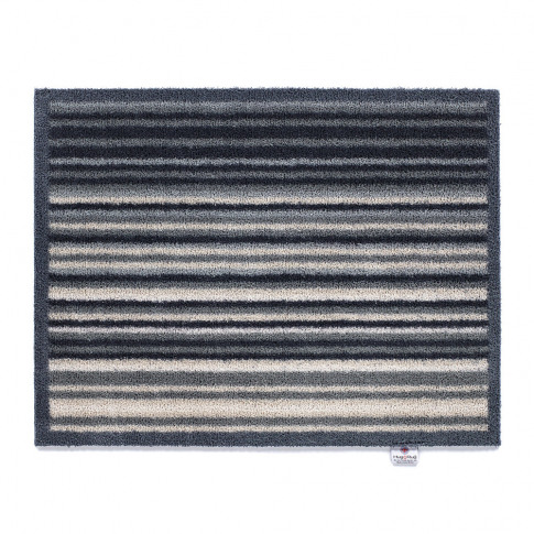 Hug Rug - Stripe Washable Recycled Door Mat - Grey - 65x85cm