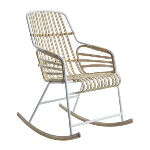 Horm & Casamania - Raphia Rocking Chair - White