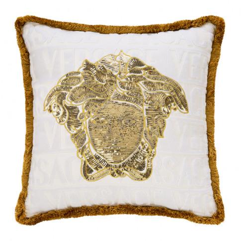 Versace Home - Logomania Cushion - 45cm X 45cm - Whi...