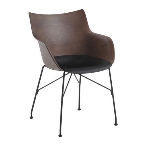 Kartell - Q/Wood Armchair - Dark Wood/Black