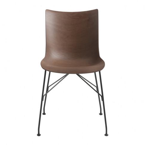 Kartell - P/Wood Armchair - Dark Wood/Black