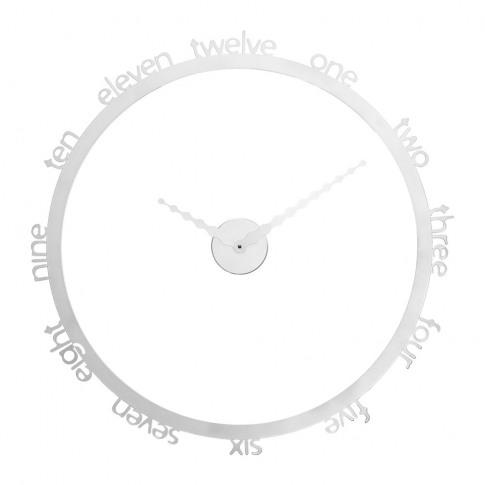 Progetti - Hoop Wall Clock - White