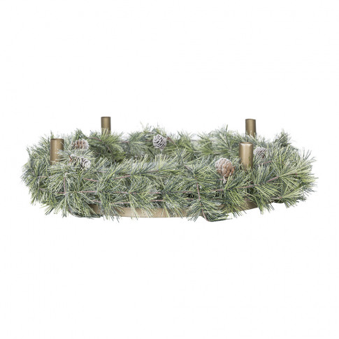 A By Amara - Snowy Wreath With Candle Holder