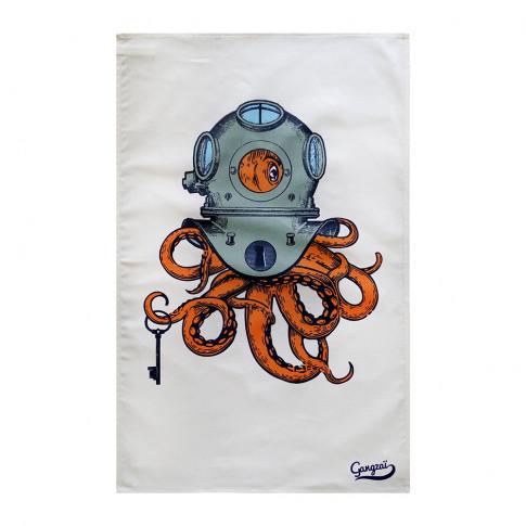 Gangzai - Arti Tea Towel - Scaphopoulp