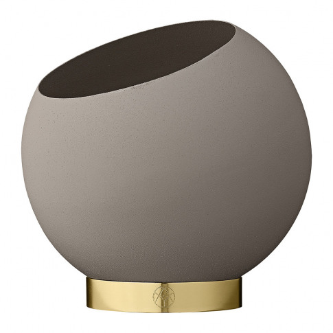 Aytm - Globe Flower Pot - Taupe - Small