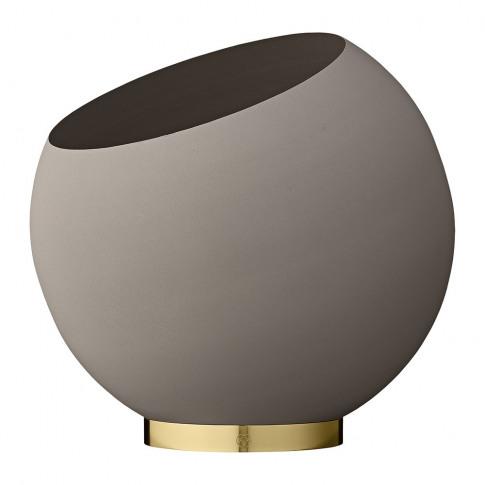 Aytm - Globe Flower Pot - Taupe - Large