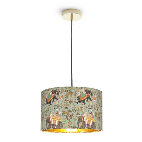 Mindthegap - Hindustan Aquamarine Drum Ceiling Light...
