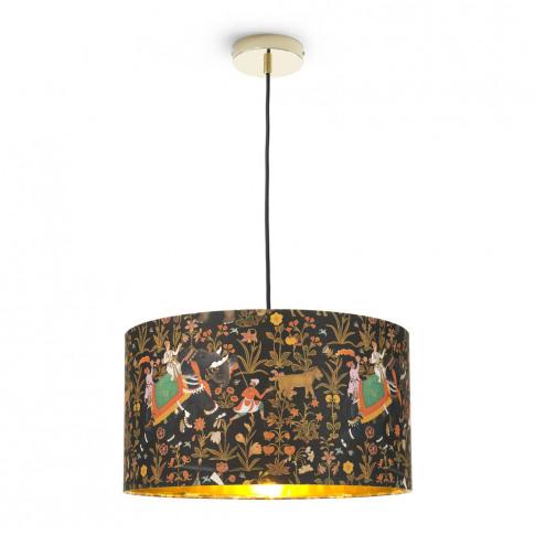 Mindthegap - Hindustan Anthracite Drum Ceiling Light...