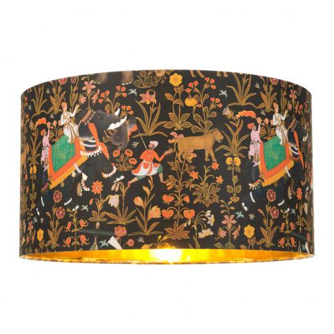 Mindthegap - Hindustan Anthracite Drum Lamp Shade - ...