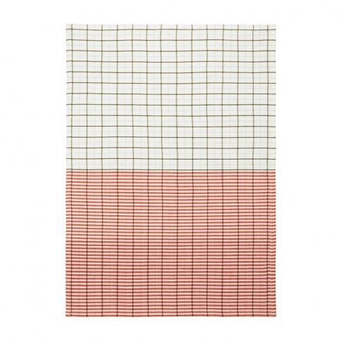 Normann Copenhagen - Ren Stripe Grid Tea Towel - Pal...