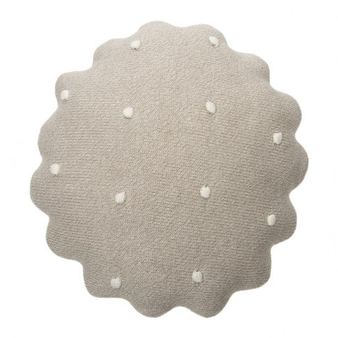 Lorena Canals - Round Biscuit Knitted Cushion - Dune...