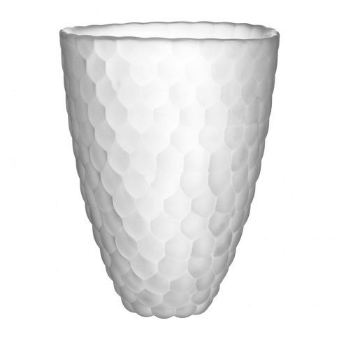 Orrefors Kosta Boda - Raspberry Glass Vase - Frosted