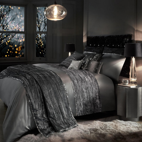 Kylie Minogue At Home - Zander Duvet Cover - Silver ...