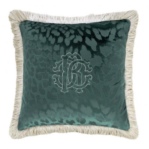 Roberto Cavalli - Monogram Cushion - Teal - 40x40cm