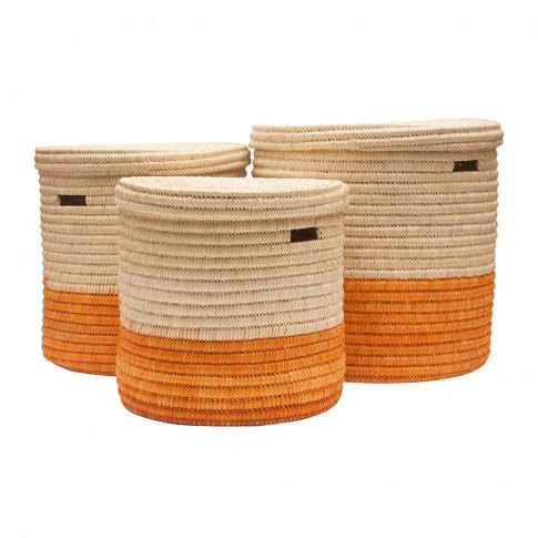 The Basket Room - Wapi Lidded Colourblock Laundry Ba...