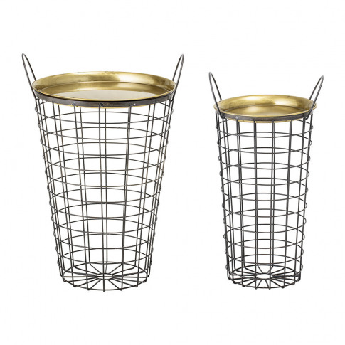 Bloomingville - Kaia Metal Tray Table - Set Of 2 - B...